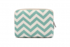 Sleeve tot 10.1 inch iPad - tablet hoes met print (green stripes)