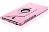 360 pu leather rotating case for samsung galaxy tab a 10.5 2018 pink