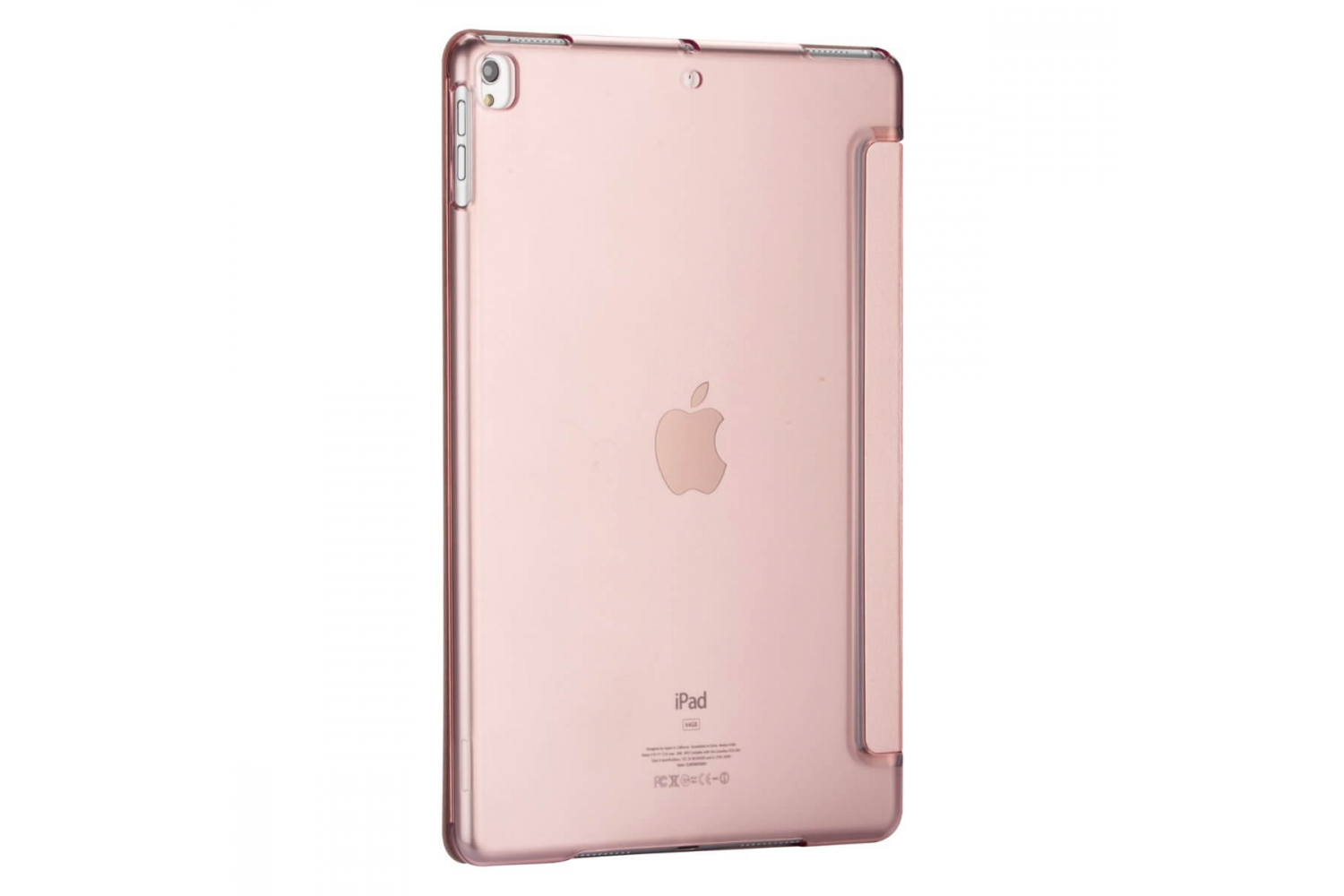 iPad 2019 10.2 inch Hard Tri-Fold Book Cover Rose Goud