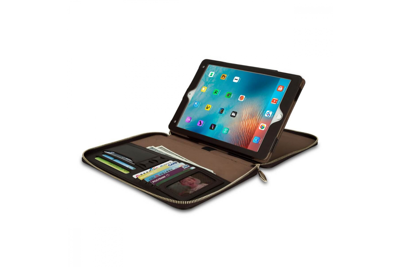 iPad 2018 9.7 inch hoes (zakelijke handtas) donker Bruin