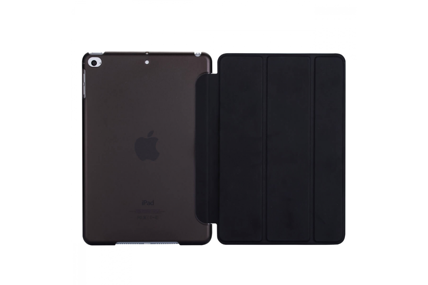 iPad Mini 5 Hard Tri-Fold Book Cover Zwart