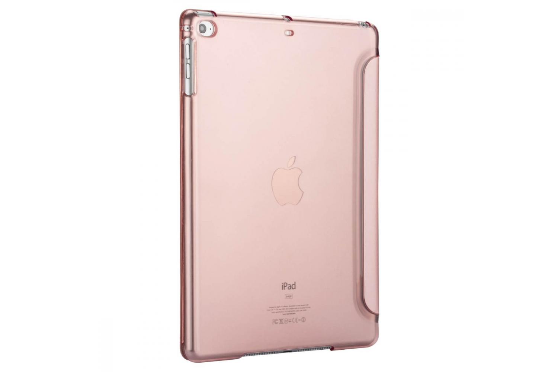 iPad 2017 9.7 inch Hard Tri-Fold Book Cover Rose Goud