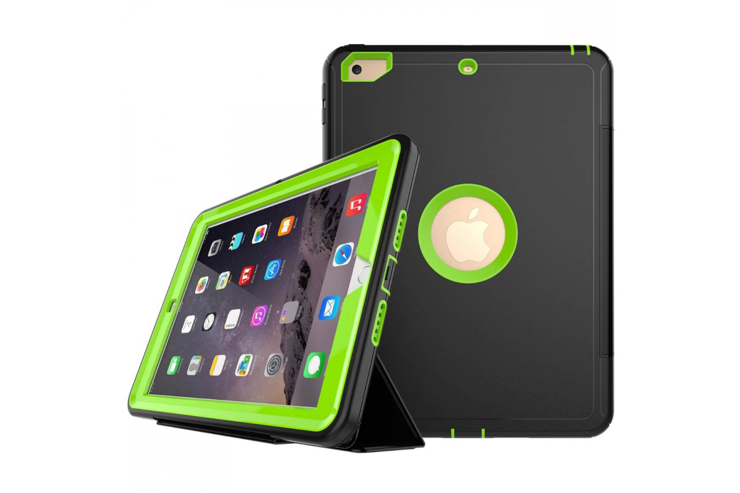 iPad 9.7 (2018) heavy duty survivor smartcase lime groen