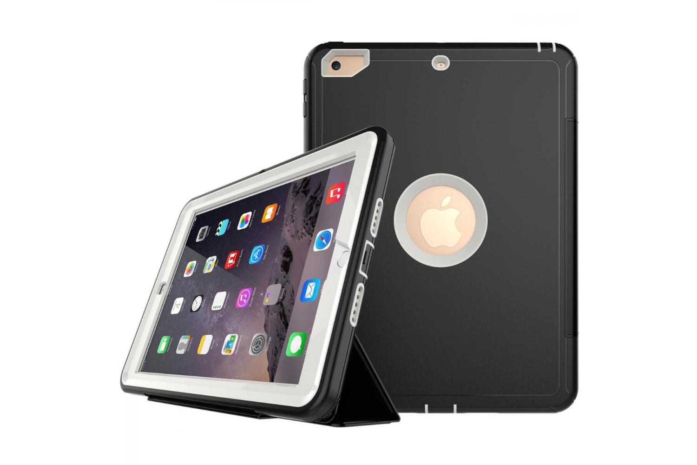 iPad 9.7 (2018) heavy duty survivor smartcase gebroken wit