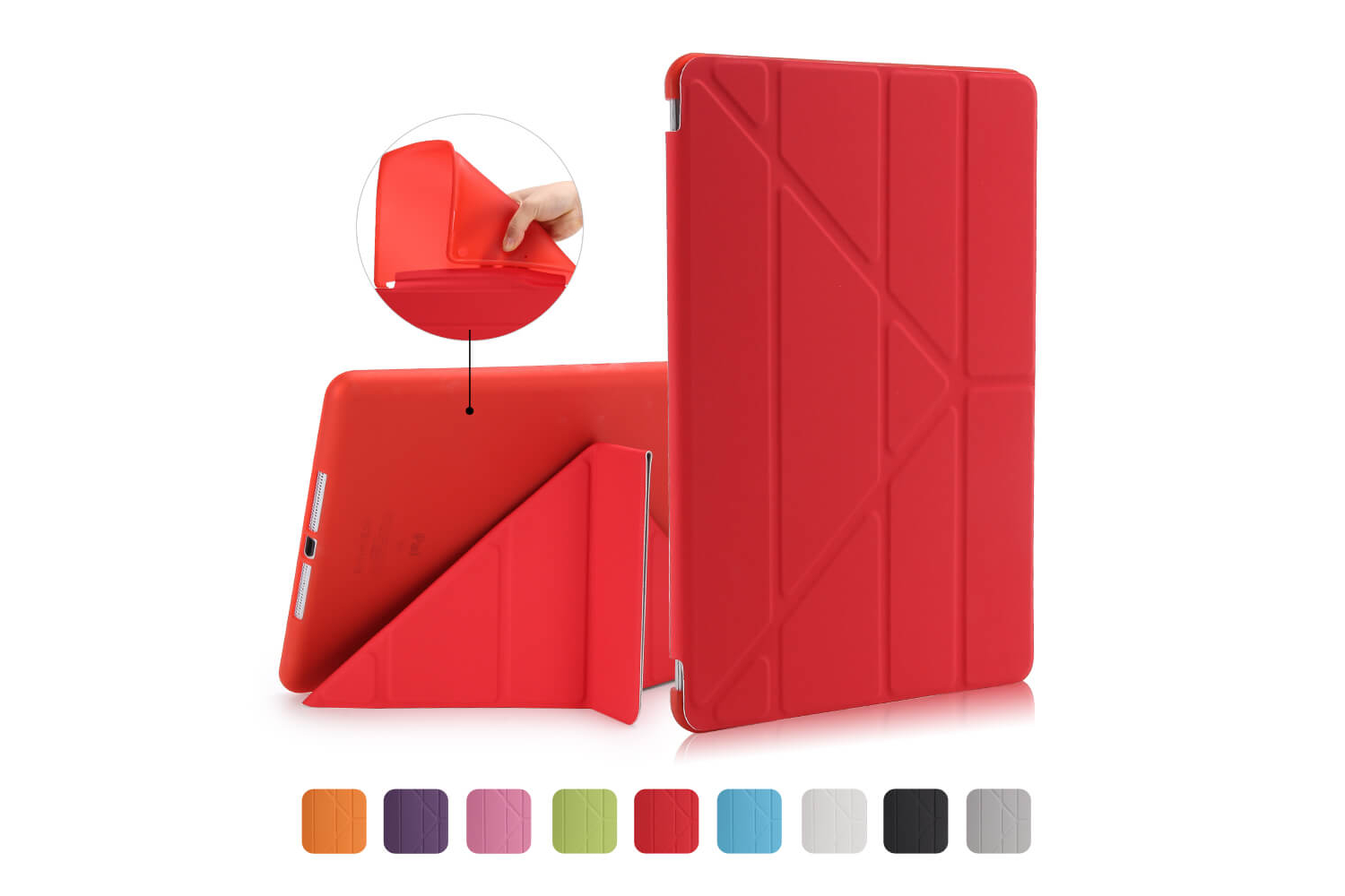 Flipstand Cover iPad Air 1 rood