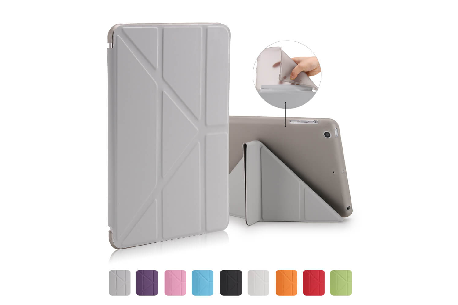 Flipstand Cover iPad Mini 1-2-3 grijs
