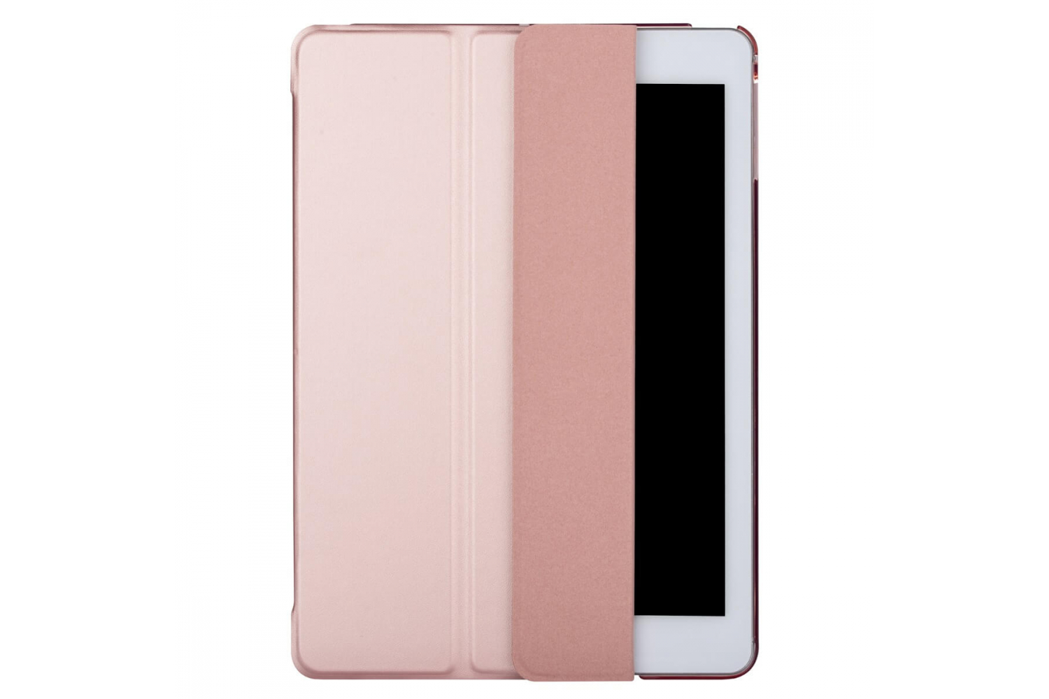iPad 2018 9.7 inch Hard Tri-Fold Book Cover Rose Goud