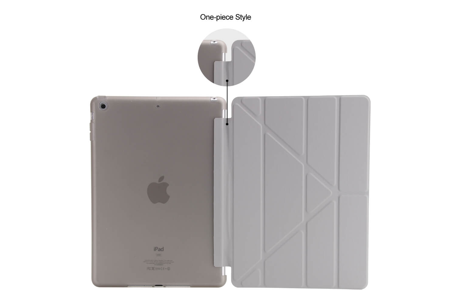 Flipstand Cover iPad Air 1 grijs