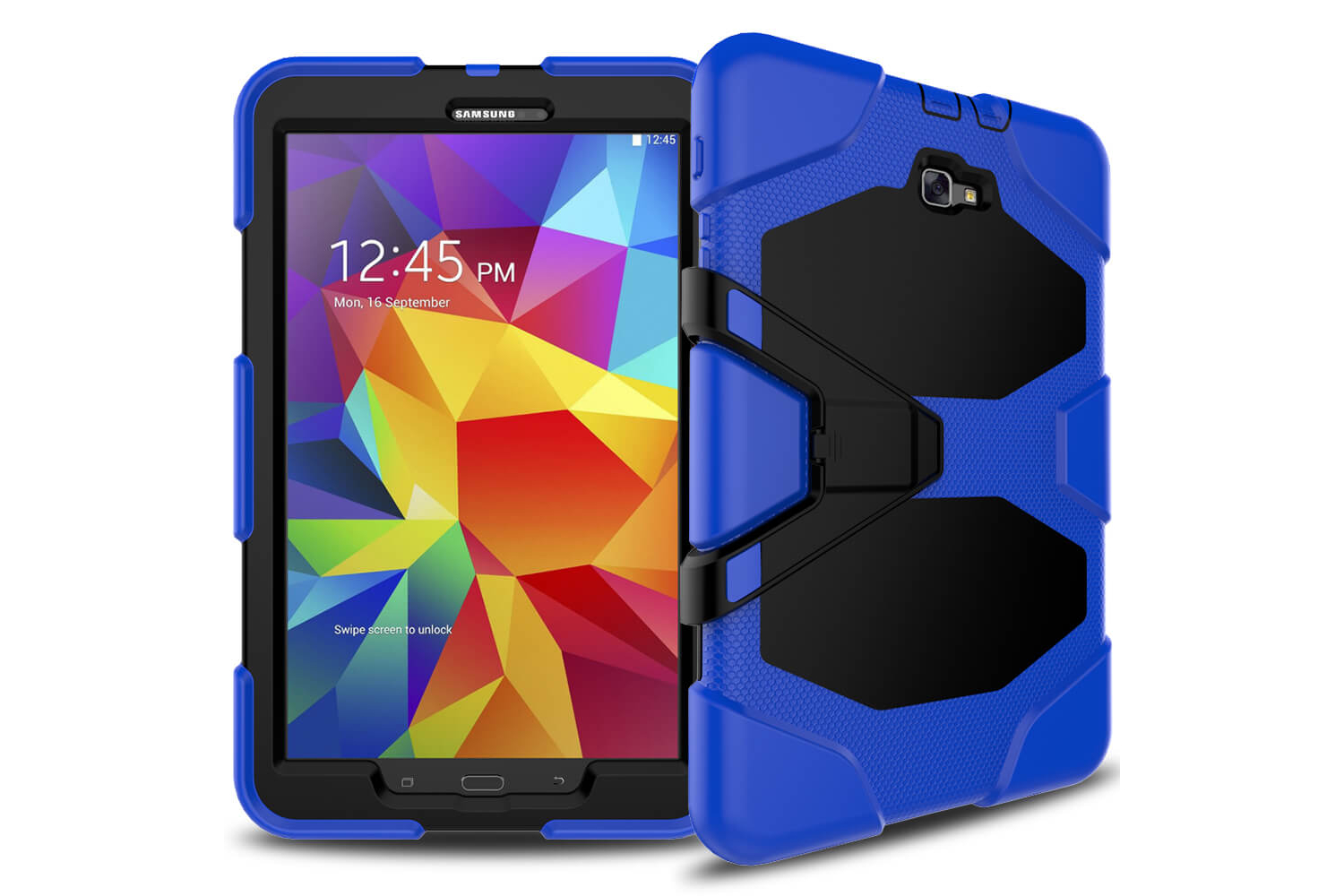 Samsung Tab A 10.1 (A6) heavy duty survivor case blauw T580 - T585