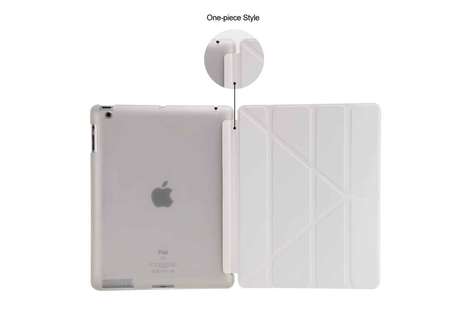 Flipstand Cover iPad 2-3-4 wit