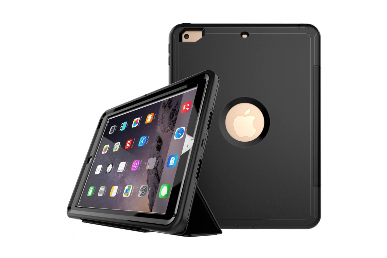 iPad 9.7 (2018) heavy duty survivor smartcase zwart