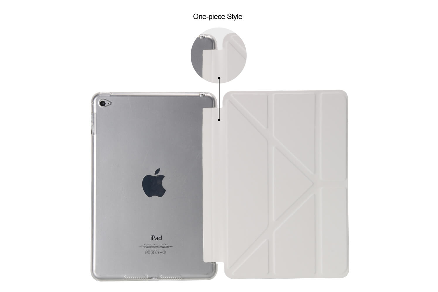 Flipstand Cover iPad Mini 4 wit