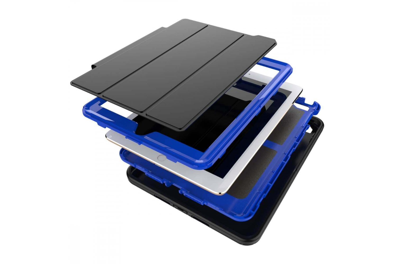 iPad 9.7 (2018) heavy duty survivor smartcase blauw