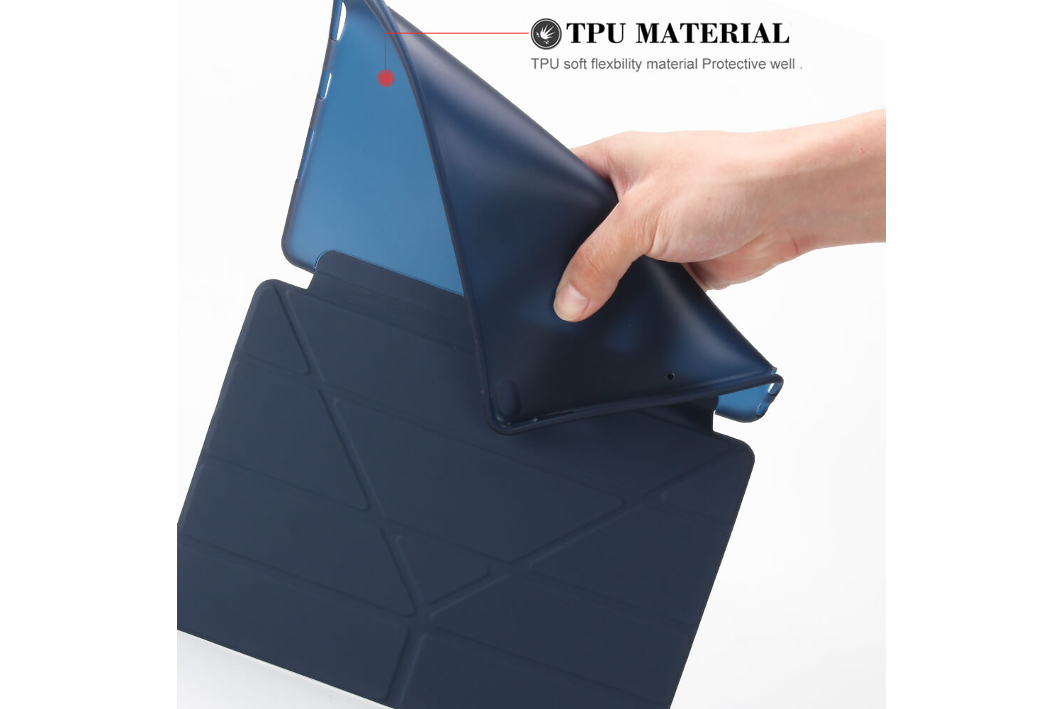 Flipstand Cover iPad Pro 10.5 donker blauw