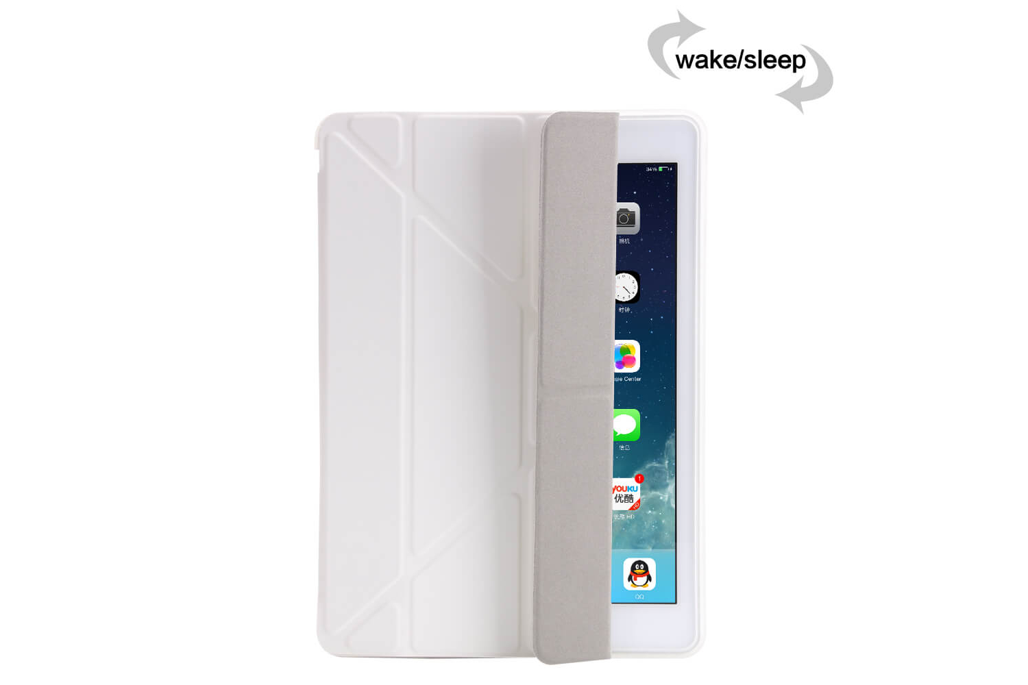 iPad 2017 9.7 Flipstand Cover wit