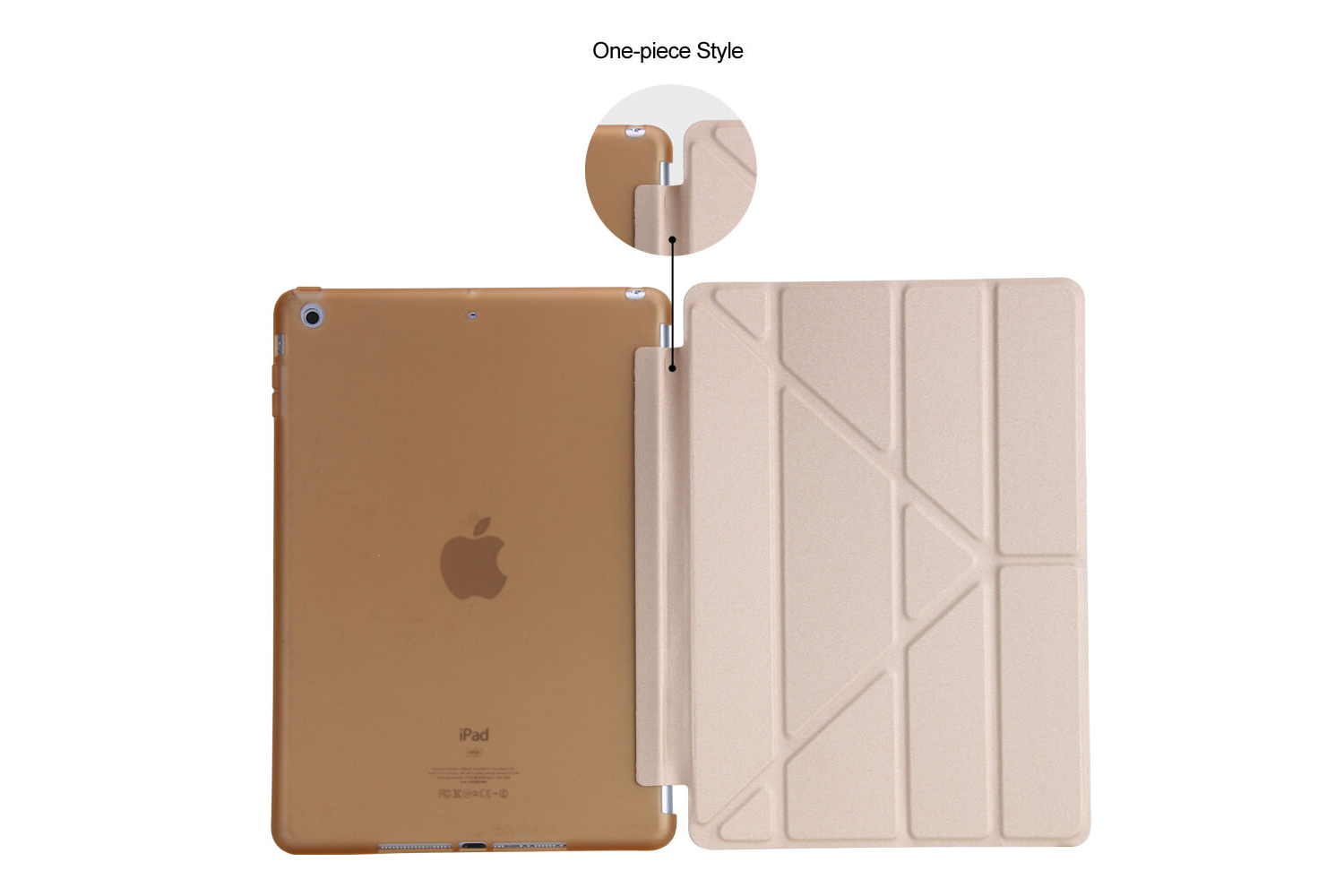 iPad 2017 9.7 Flipstand Cover goud