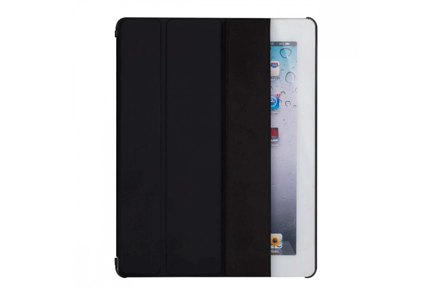 iPad 2-3-4 Hard Tri-Fold Book Cover Zwart