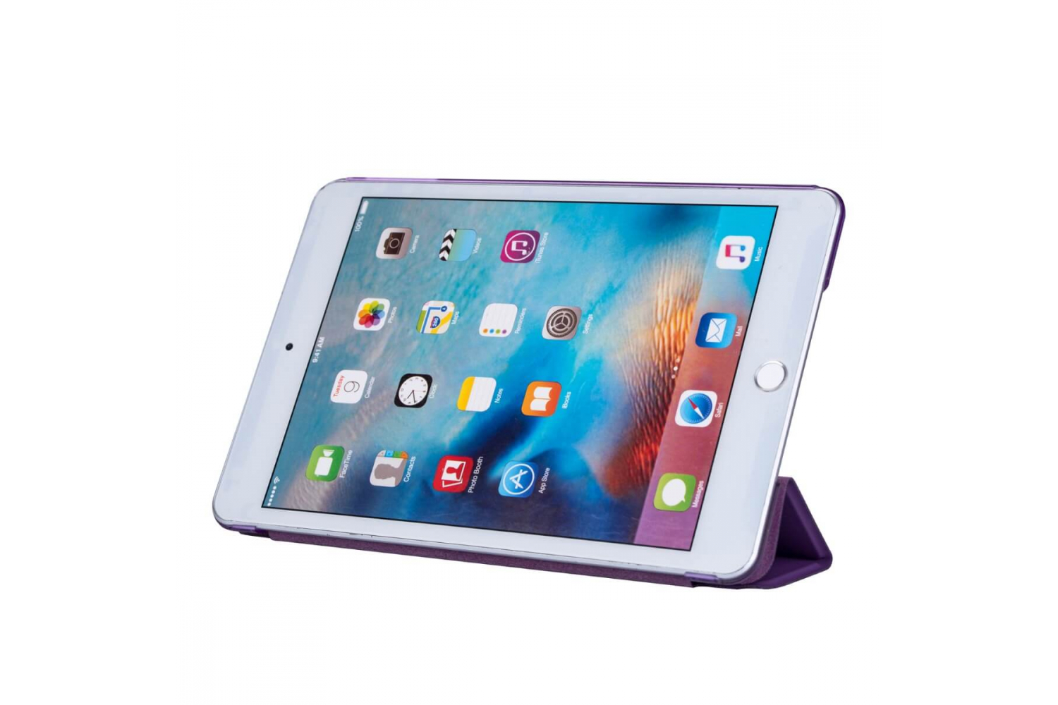 iPad Mini 4 Hard Tri-Fold Book Cover Paars