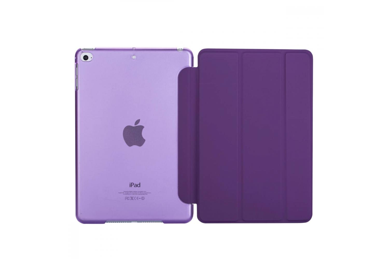 iPad Mini 5 Hard Tri-Fold Book Cover Paars