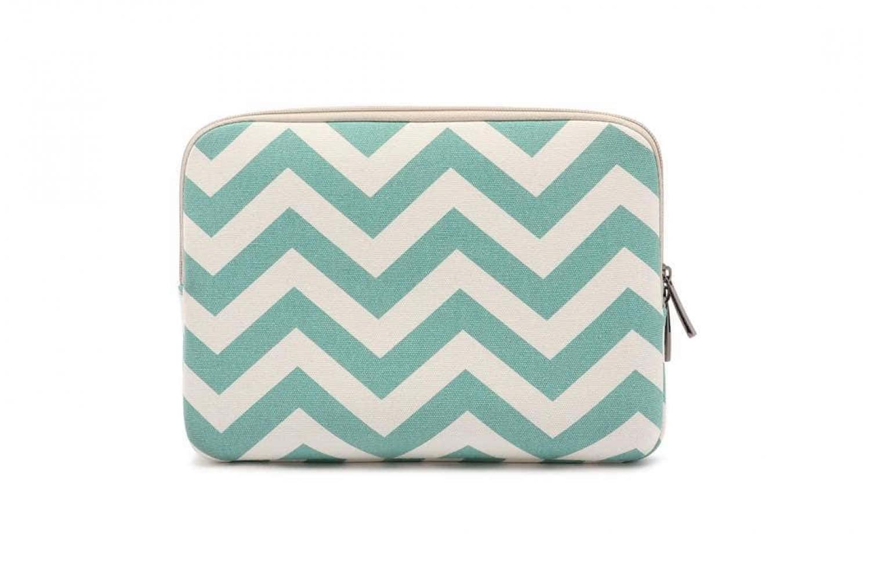 Sleeve tot 10.1 inch iPad - tablet hoes met print (green stripes)
