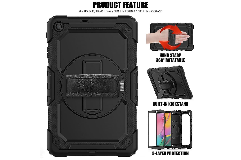 Samsung Tab A 10.1 2019 draaibare Bumper Case zwart