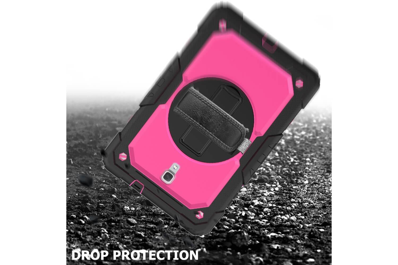 samsung galaxy tab a 10.5 rotating bumper case pink