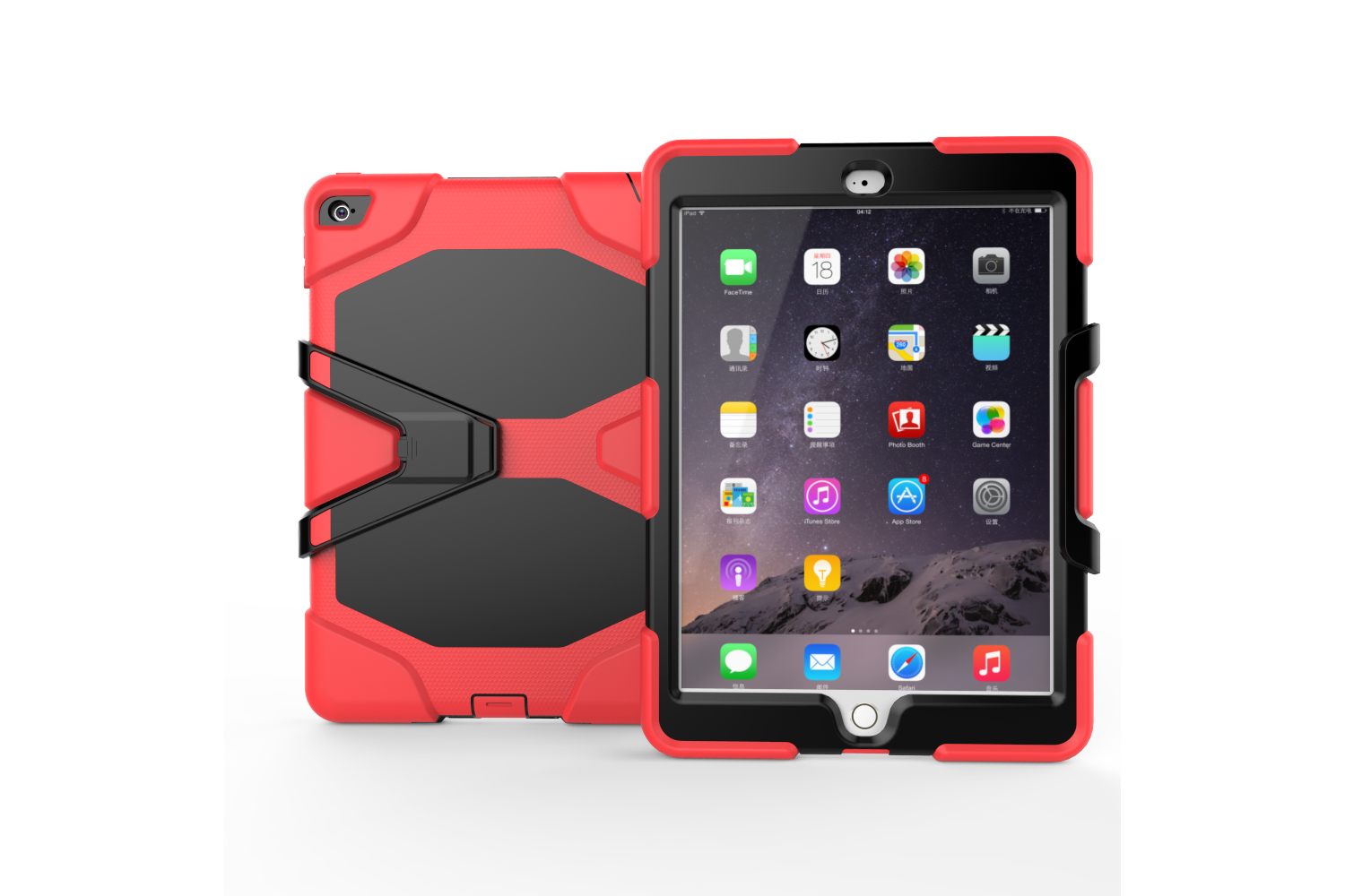iPad Air 2 heavy duty survivor case rood