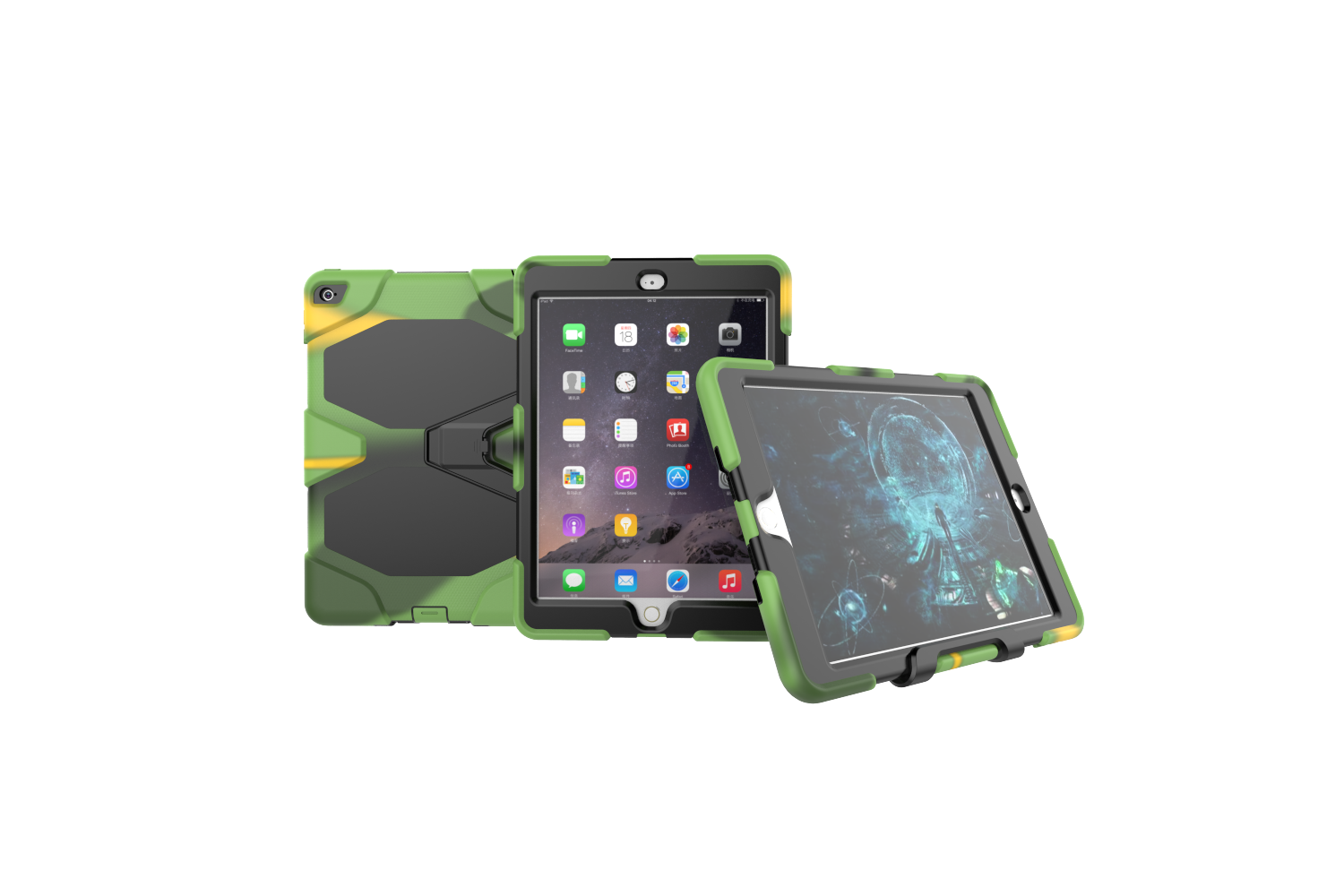 iPad Air 2 heavy duty survivor case leger kleur