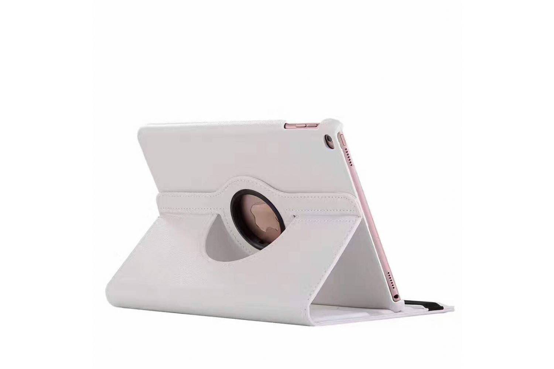 iPad 9.7 (2018) PU leren draaibare hoes wit