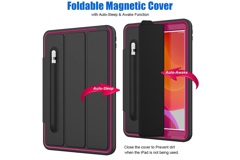 iPad 2019 10.2 inch Bumper Case met Smartcover Oud Roze