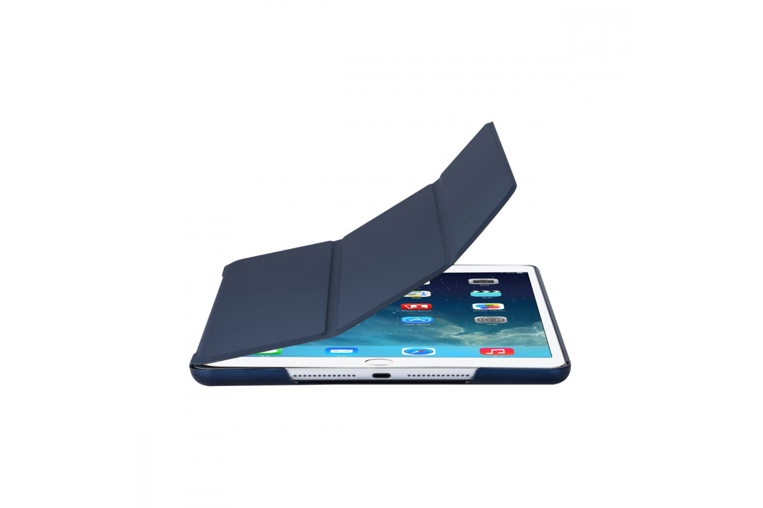 iPad 2019 10.2 inch Hard Tri-Fold Book Cover Donker blauw