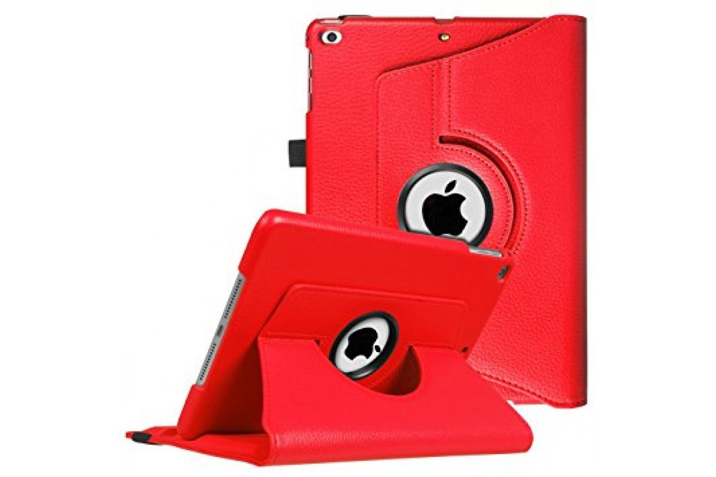 iPad 9.7 (2018) PU leren draaibare hoes rood