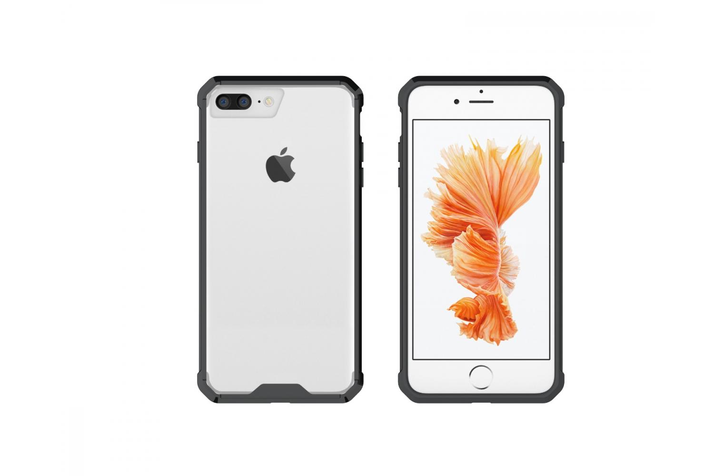 Iphone 7 Plus Back cover Transparant Air Hybrid Zwart
