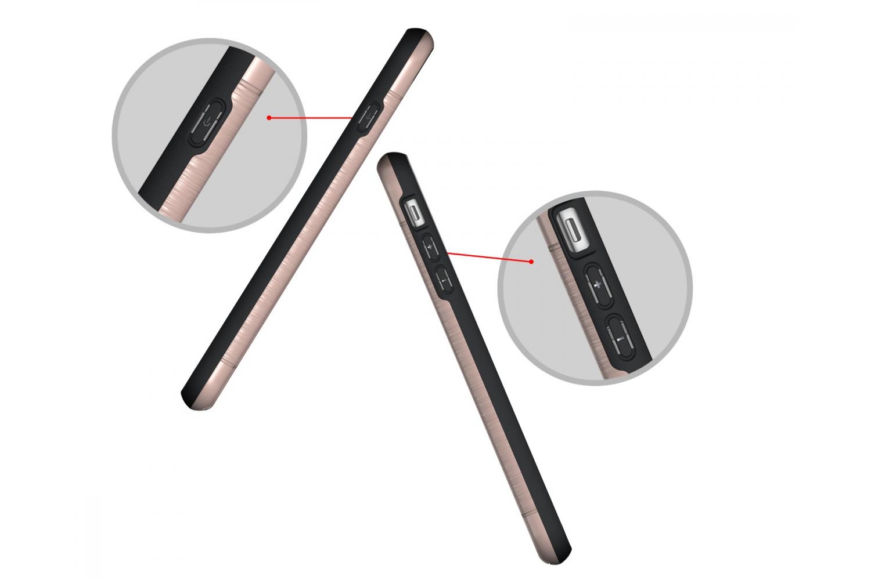Iphone 7 Plus Back Cover Case Rose goud