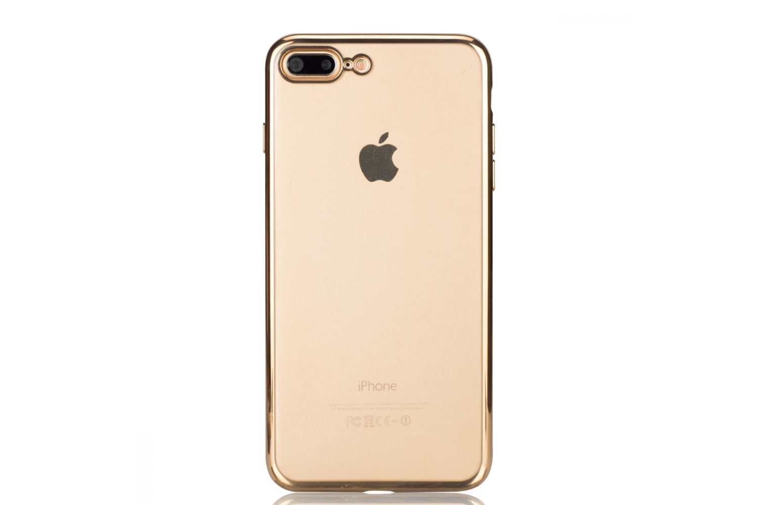 Iphone 7 Plus Back cover TPU case Transparant Goud
