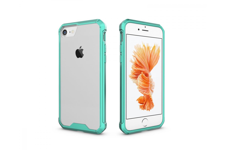 Iphone 8 Back cover Transparant Air Hybrid Mintgroen