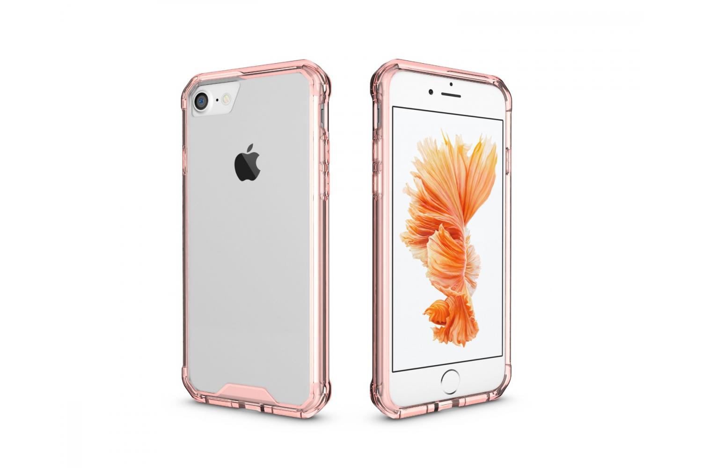 Iphone 8 Back cover Transparant Air Hybrid Rose goud