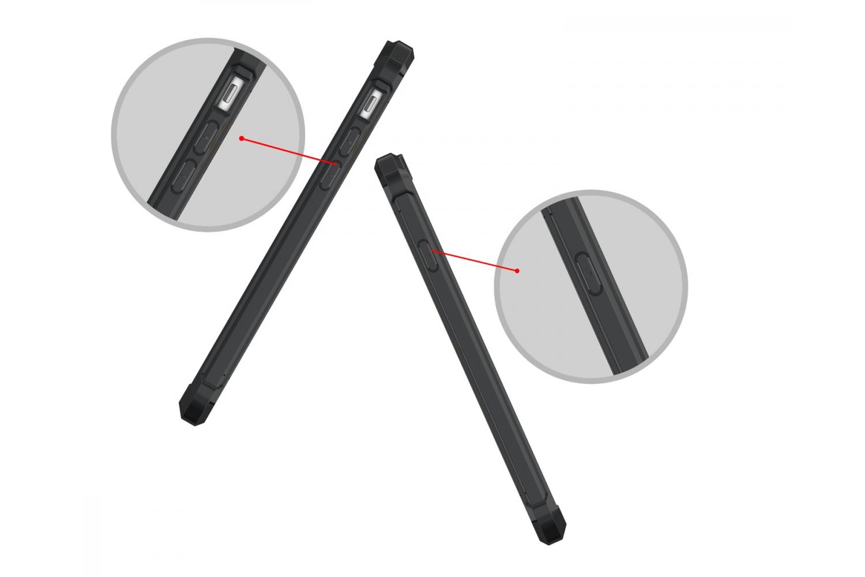 Iphone 8 Back cover Transparant Air Hybrid Zwart