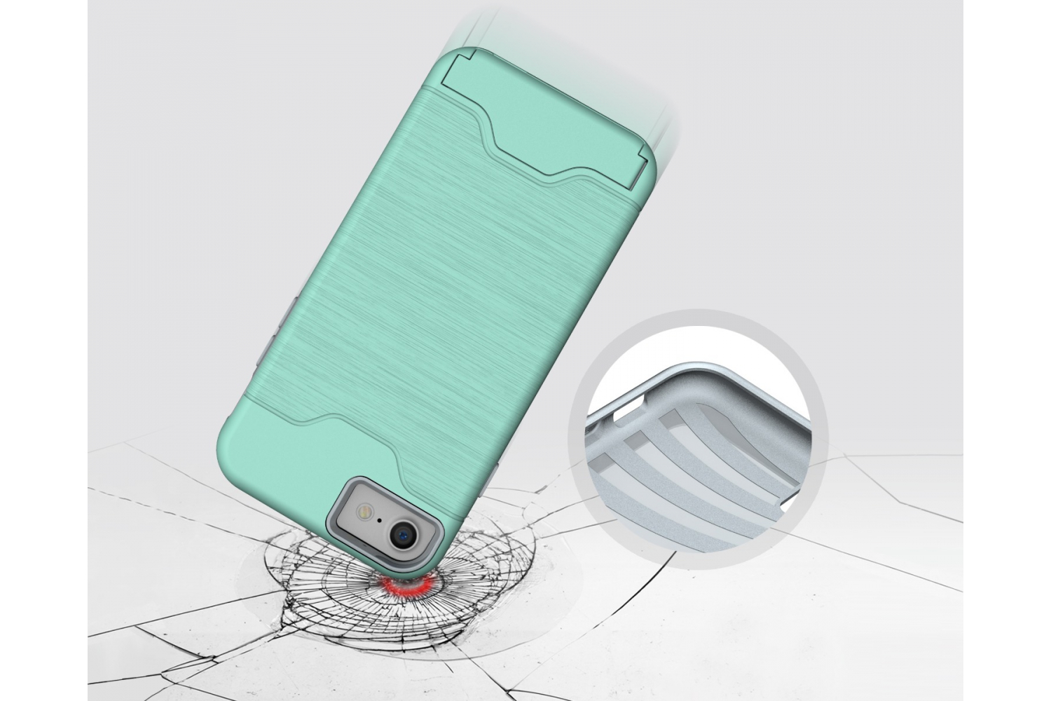 IPhone 8 Back Cover Case Mintgroen