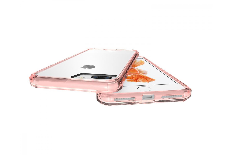 Iphone 8 Plus Back cover Transparant Air Hybrid Rose goud