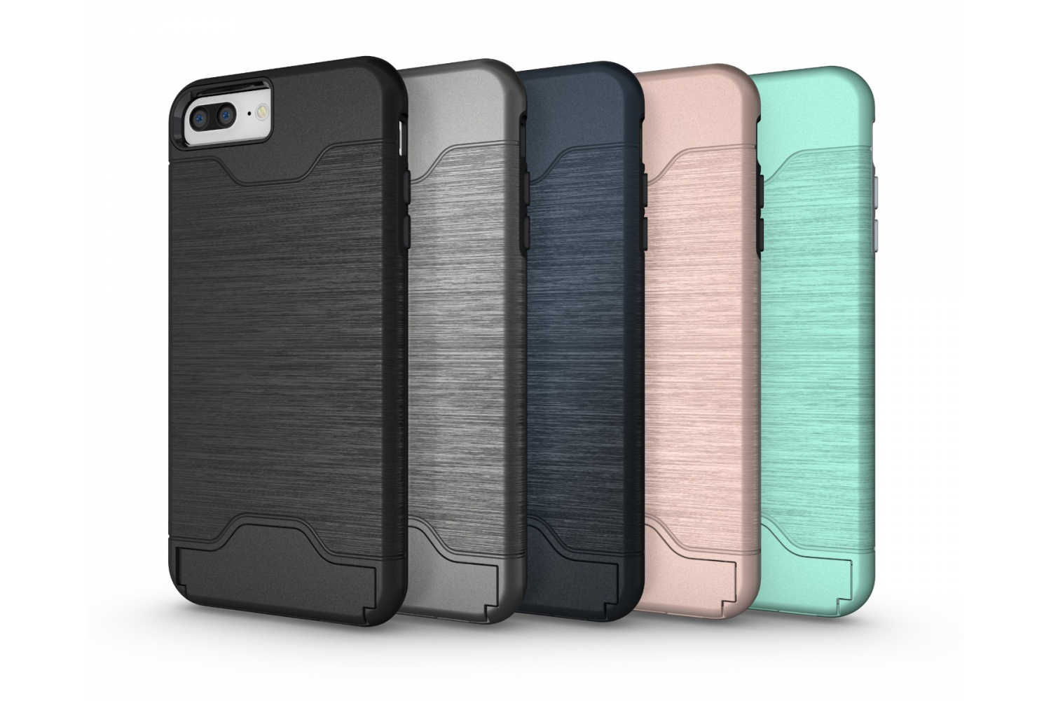 Iphone 8 Plus Back Cover Case Zilver