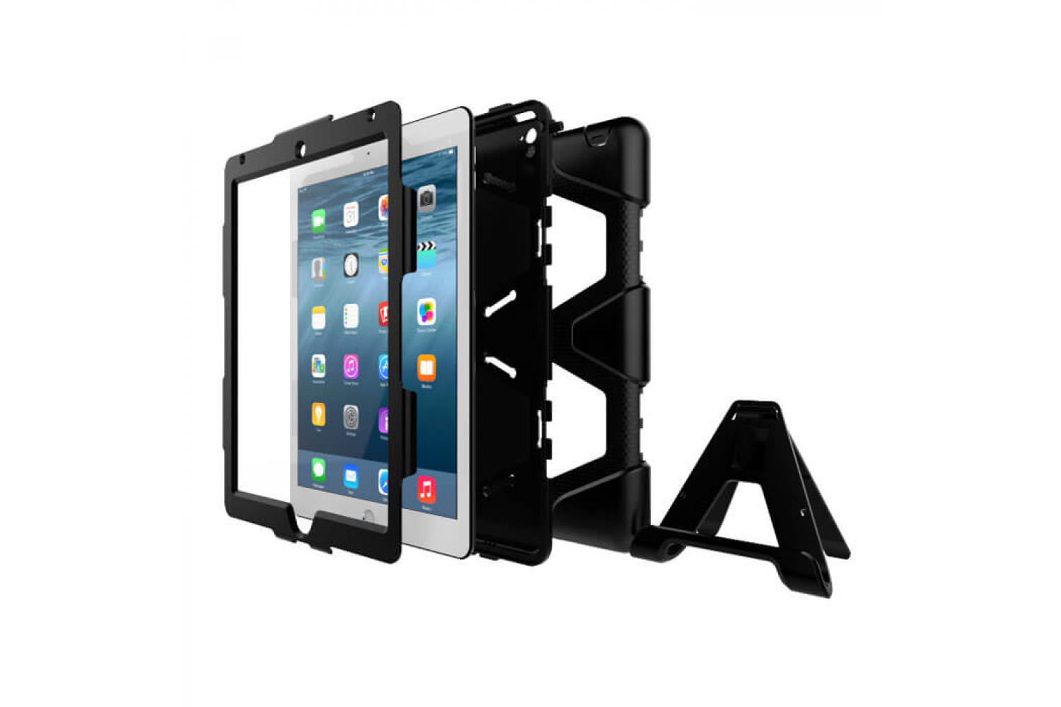 iPad Air 1 heavy duty survivor case zwart
