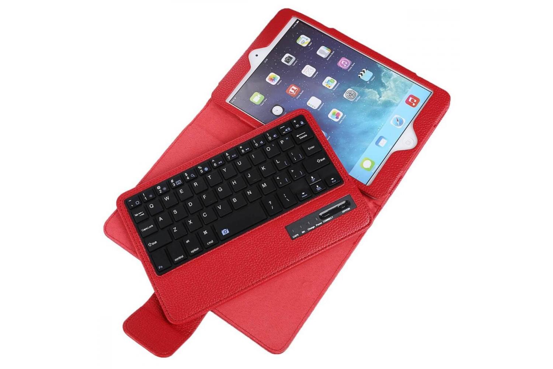Tablet Luxe hoes iPad Mini 4 met draadloos toetsenbord Rood