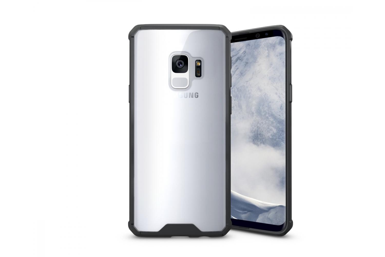 Samsung Galaxy S9 Back cover Transparant Air Hybrid Zwart