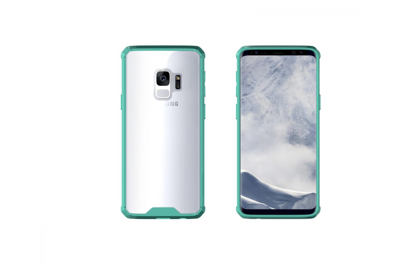 Samsung Galaxy S9 Back cover Transparant Air Hybrid Mintgroen