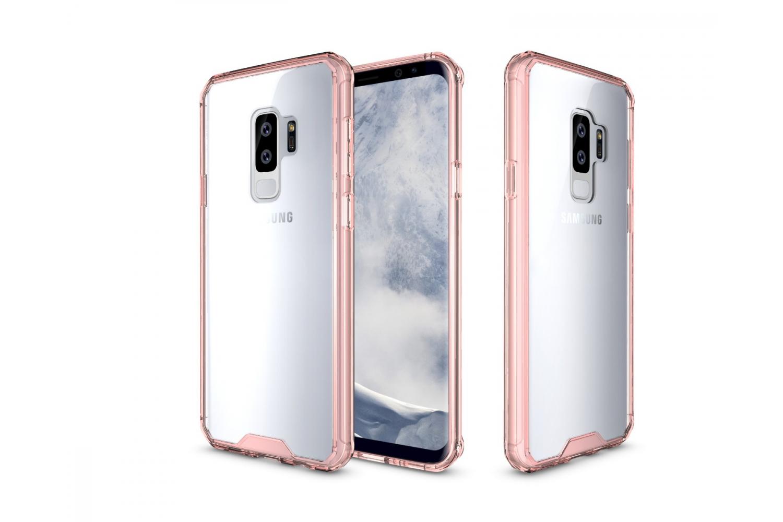 Samsung Galaxy S9 Plus Back cover Transparant Air Hybrid Rose goud