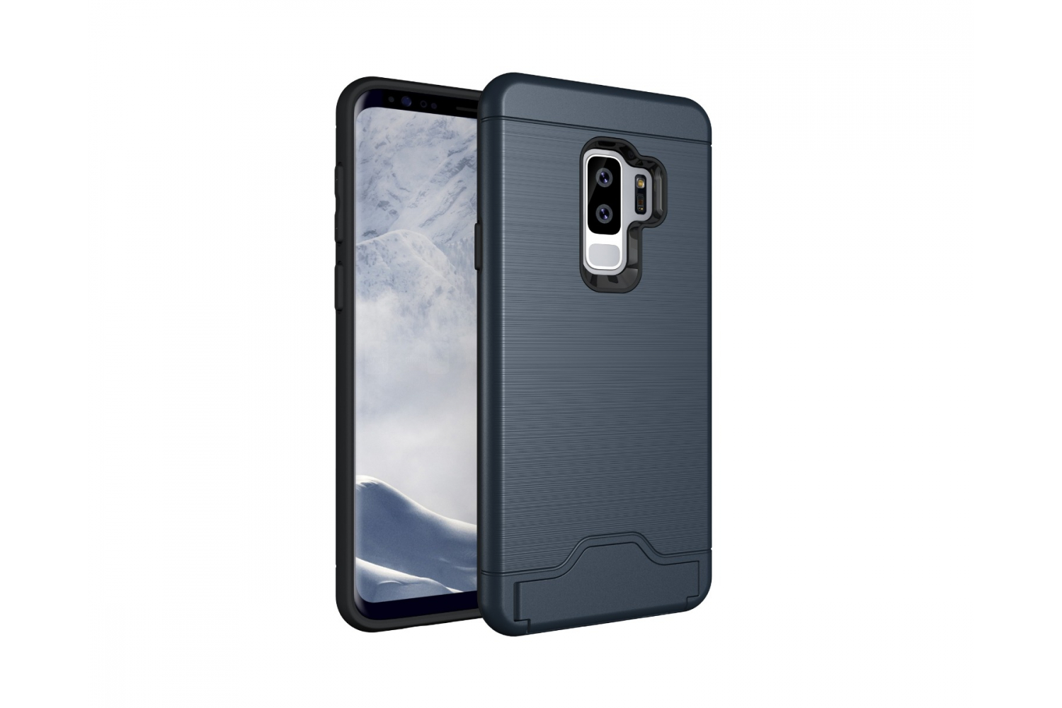 Samsung Galaxy S9 Plus Back Cover Case Donker blauw