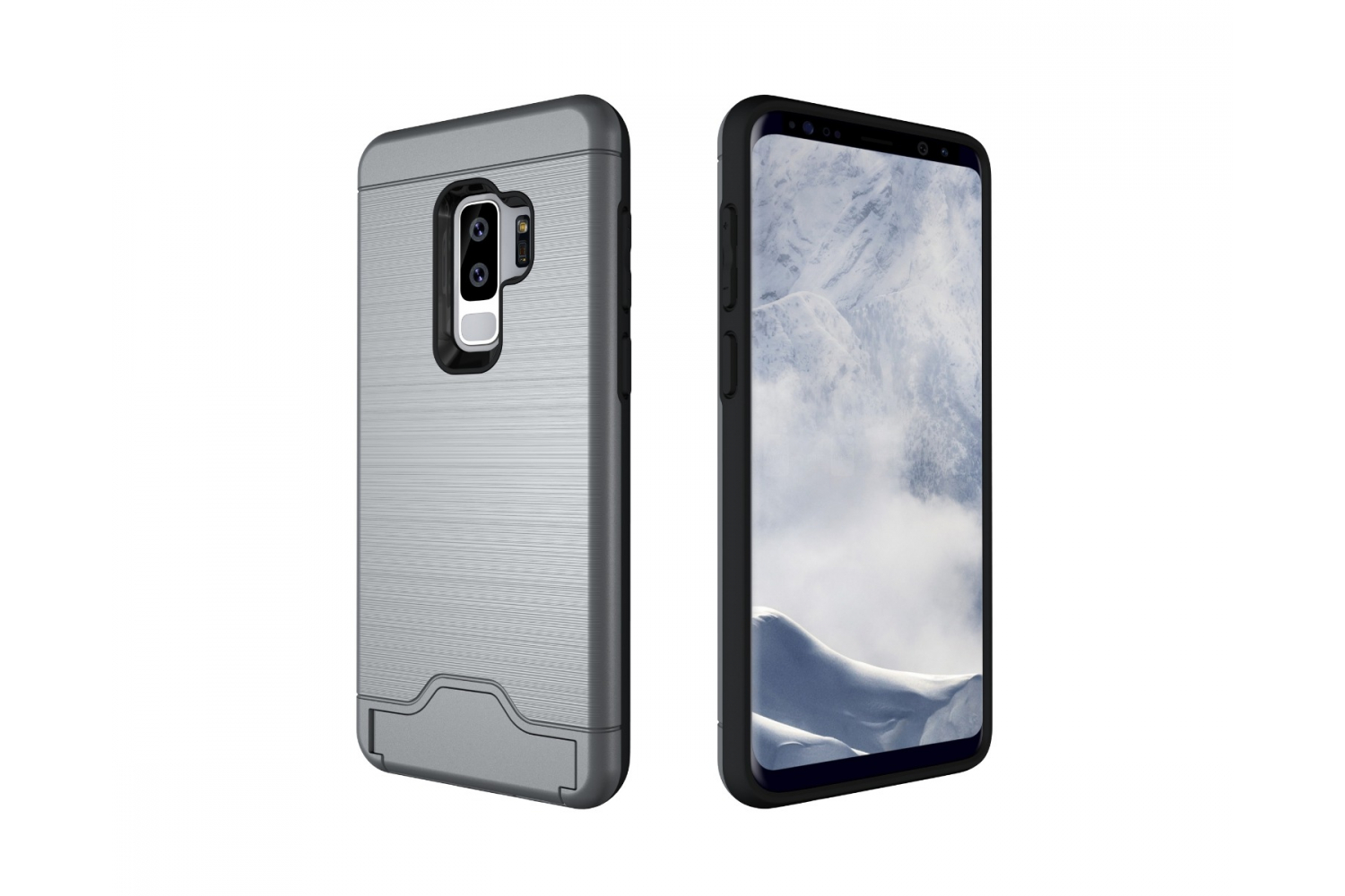 Samsung Galaxy S9 Plus Back Cover Case Zilver