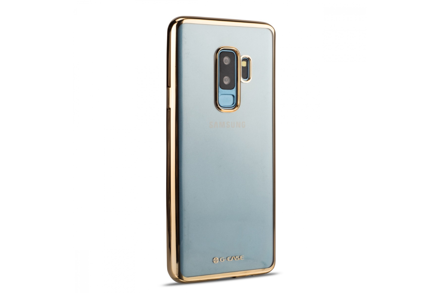 Samsung Galaxy S9 Plus Back cover TPU case Transparant Gold