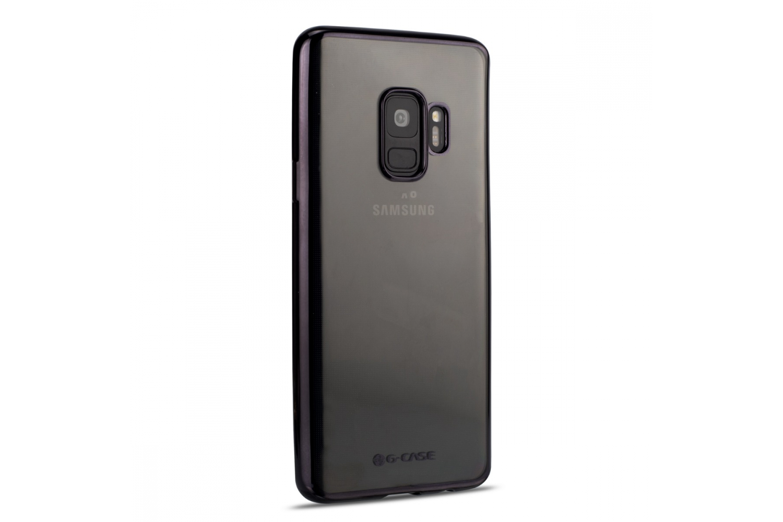 Samsung Galaxy S9 Back cover TPU case Transparant Zwart